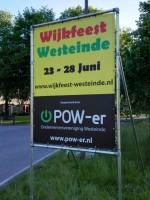 Spandoek POWer wijkfeest Westeinde 2015